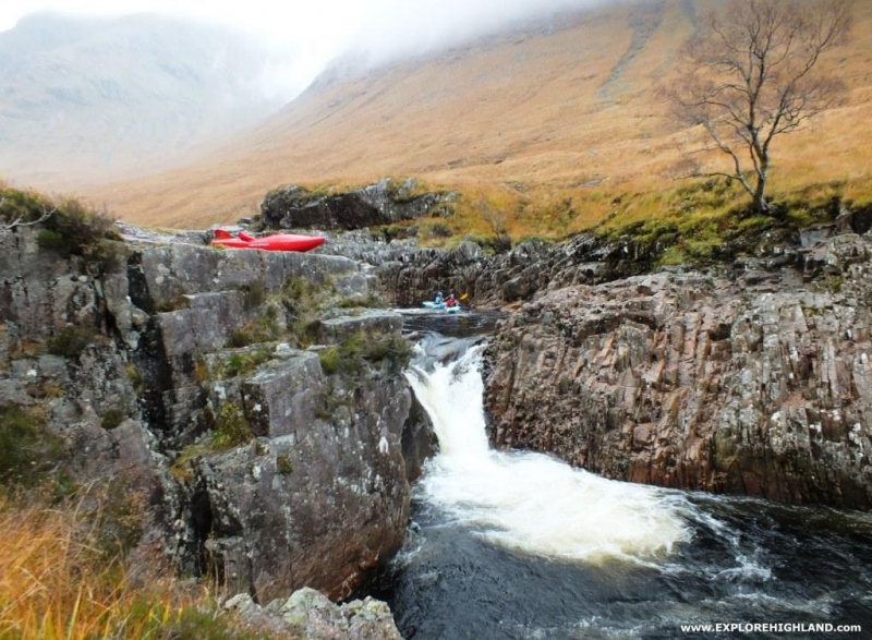 Whitewater Kayaking at the Etive