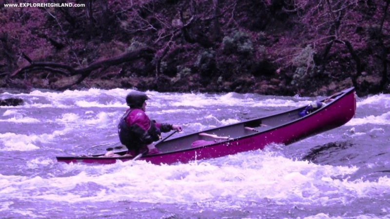 Canoe Skills on the River Arkaig