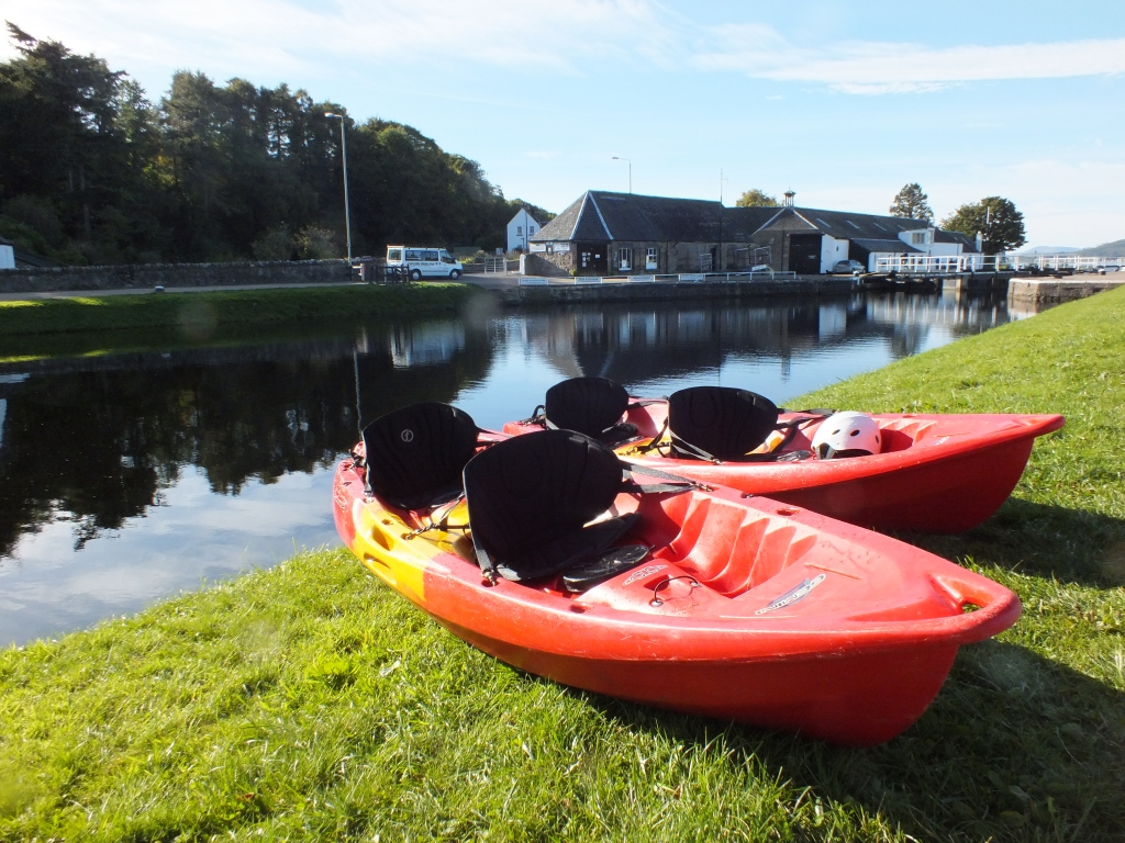 SOT kayak hire on the canal