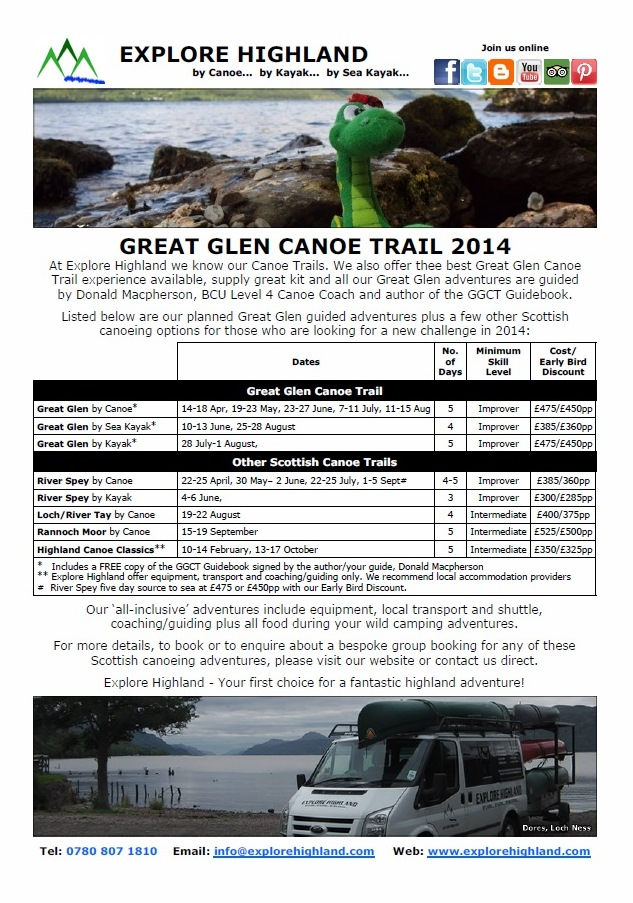 Great Glen Canoe Trail 2014