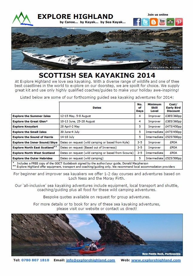 Scottish Sea Kayaking 2014