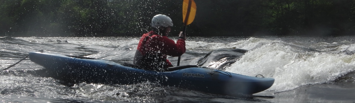 Kayaking the river ness