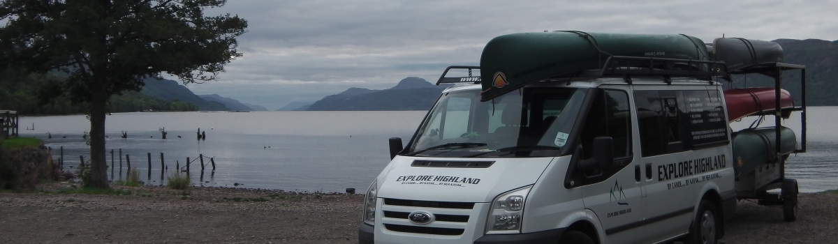 Canoe shuttle to loch ness