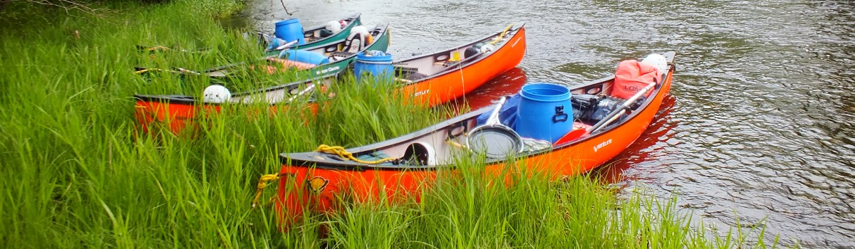 Canoes on the River Spey