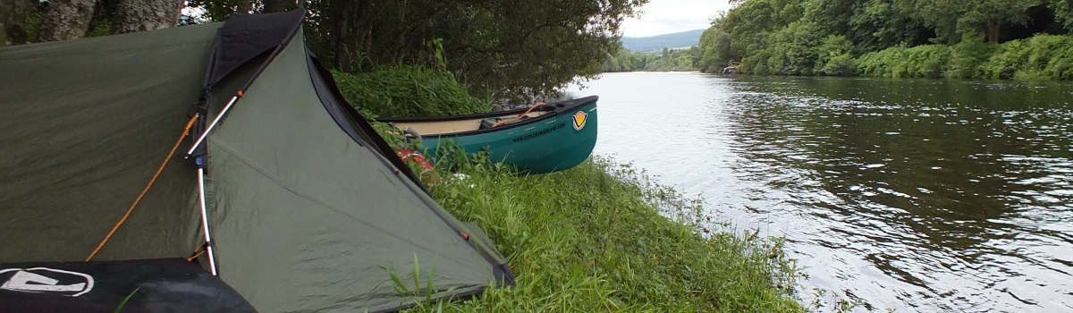 Wild camping on the River Tay