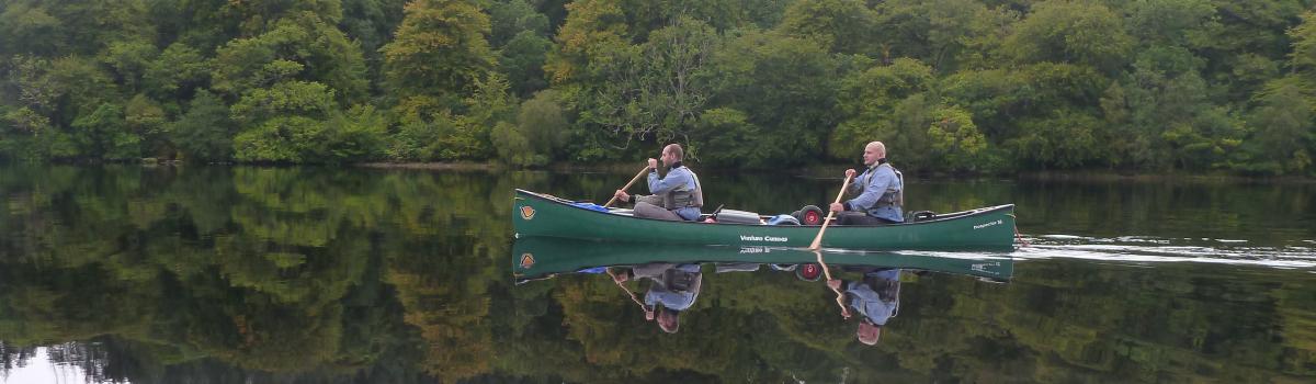 Canoeists on Loch Oich
