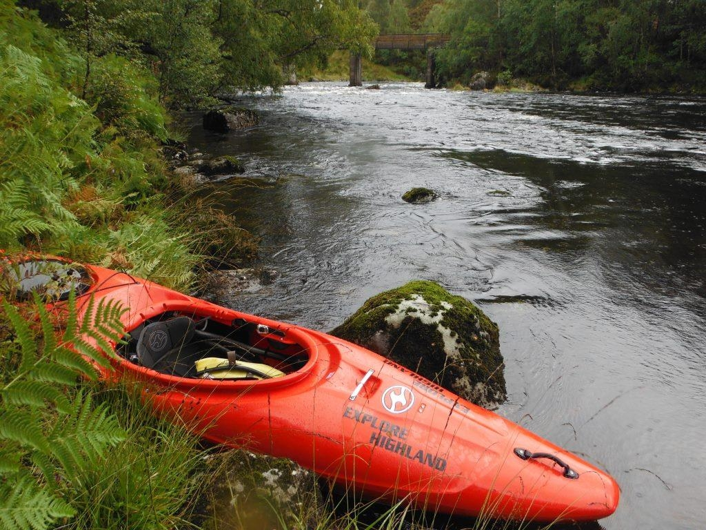 Kayaking in Glen Affric