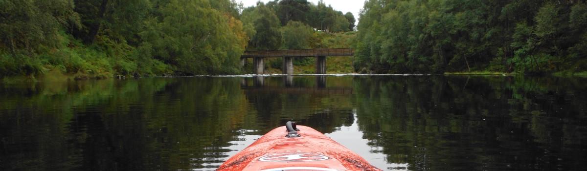 Kayaking down River Affric