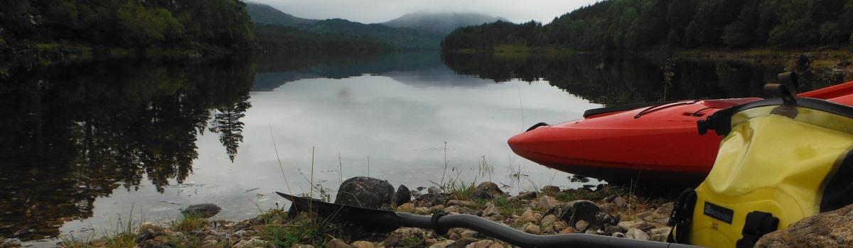 Kayaking on Loch Beinn Na Mheadhoin