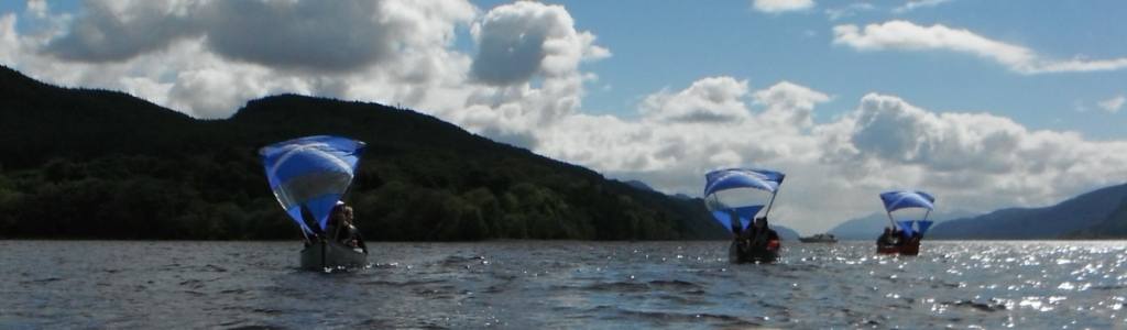 canoe sailing on the great glen
