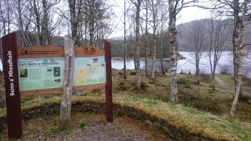 Glen Affric information Panel