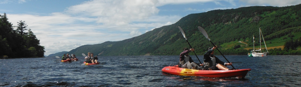kayaking on loch ness
