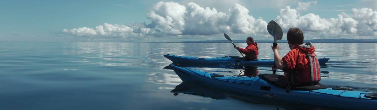 Sea kayaking from Cromarty 1200×350