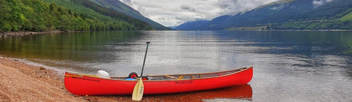 Canoe Glasdhoire Loch Lochy 1200×350