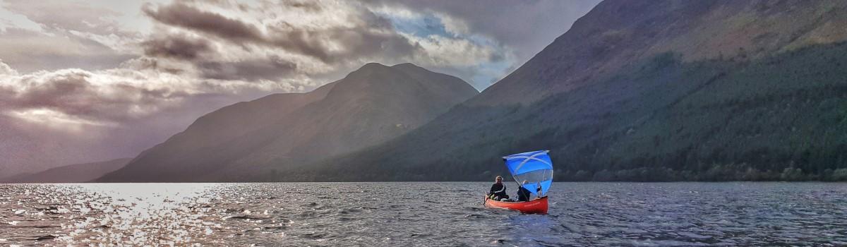 Canoe Loch Lochy Sailing 1200×350