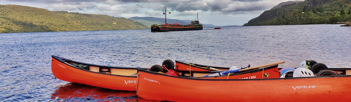 Canoe Loch Ness Inverfaigaig 1200×350