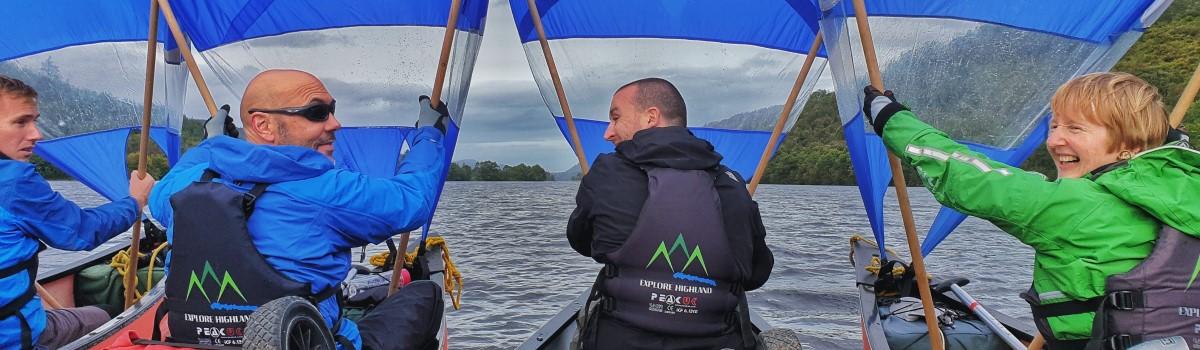 Canoe Loch Oich Sailing 1200×350