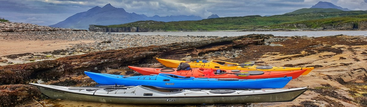 Sea Kayaks Island Cuillin View 1200×350