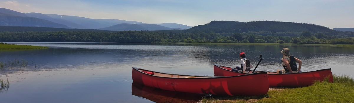 Hou Canoe Loch Insh 1200×350