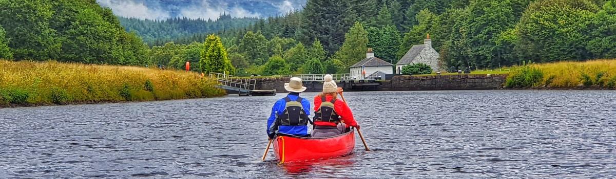 Hou Canoe Paddling at Cullachy