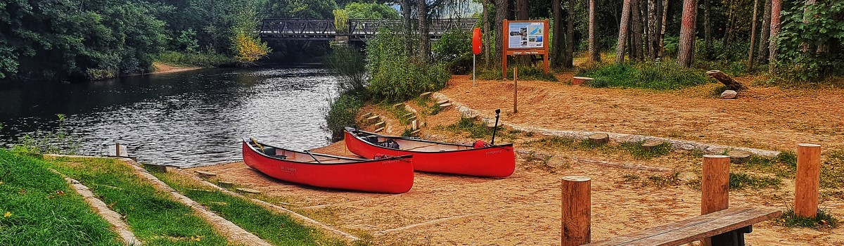 Hou Canoe at Old Bridge Inn Launch 1200×350
