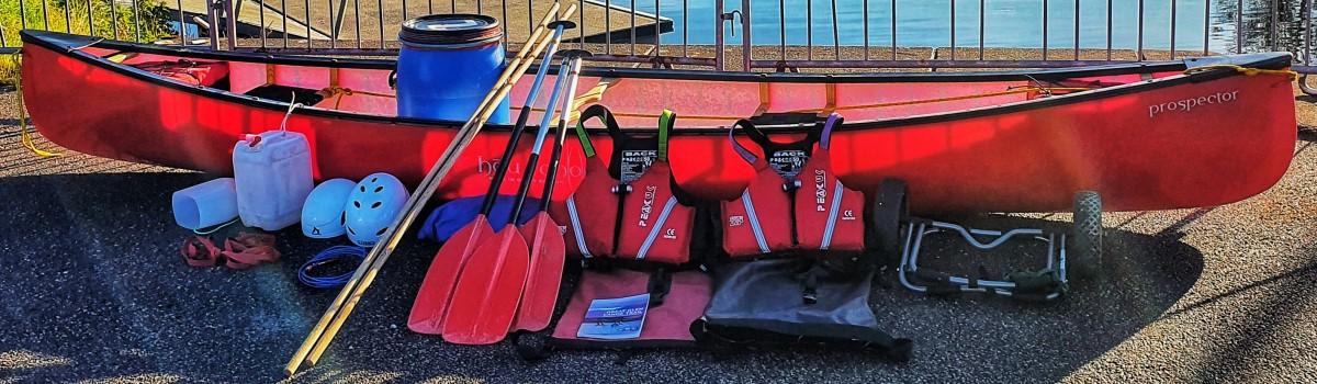 Hou Canoe with Hire kit 1200×350