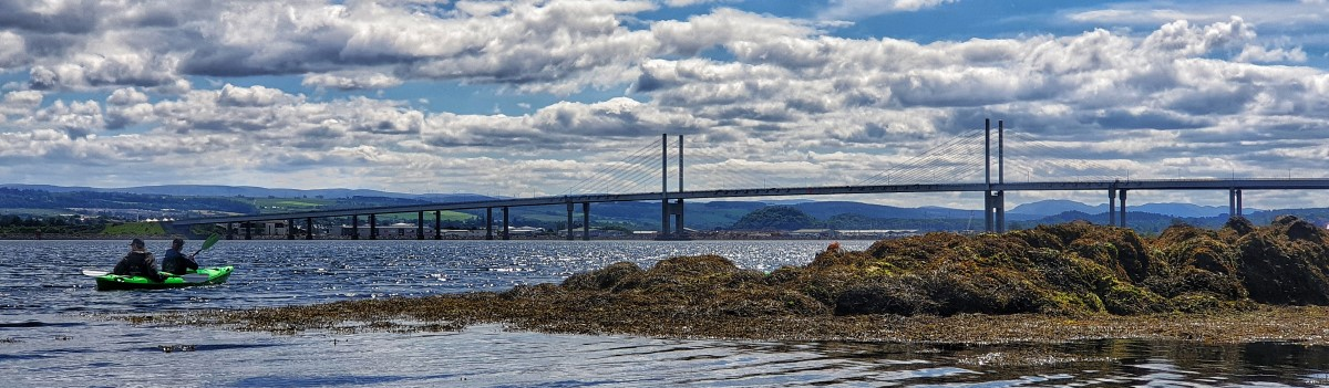 Tandem Sea Kayak Kessock Bridge 1200×350