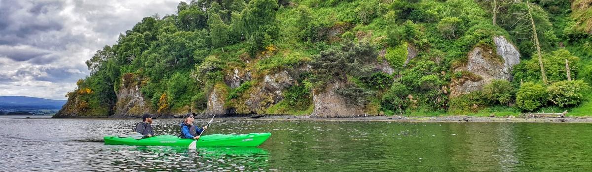 Tandem Sea Kayak Munlochy Bay 1200×350